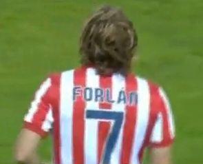 Forlán szerezte az Atletico első gólját