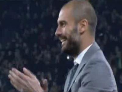 Guardiola még nem volt ilyen vidám az első gólnál
