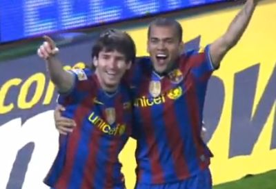 Messi (balra) ismét triplázott