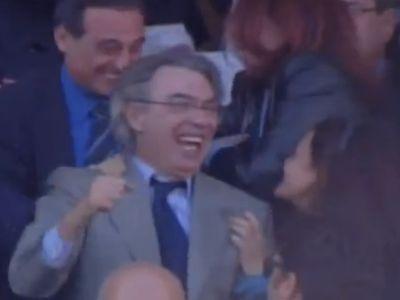 Moratti elnök majd kiugrott a bőréből örömében