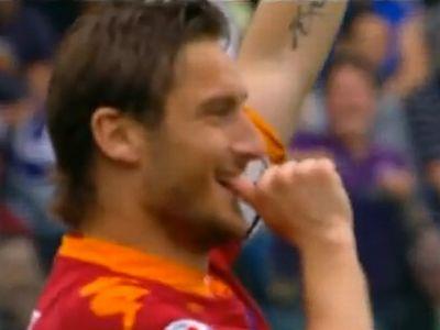 Totti is betalált a Parma ellen