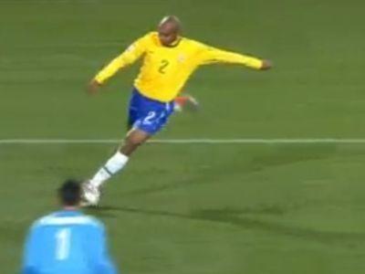 Maicon az alapvonalról lőtt gólt