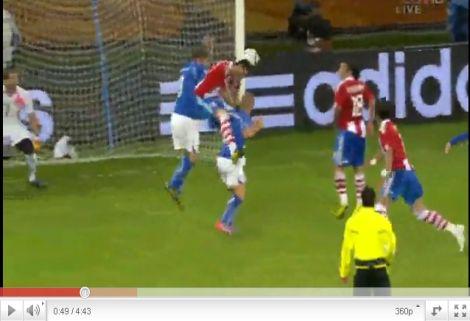 Olaszország - Paraguay: 1-1