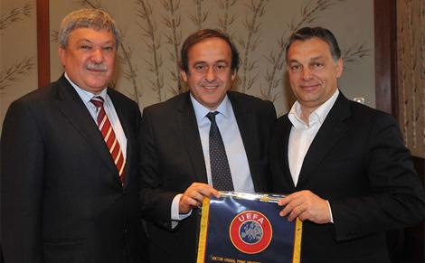 Az UEFA elnöke az MLSZ mellett Orbán Viktorral is tárgyalt