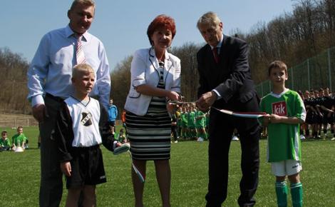 A Magyar Labdarúgó Szövetség pályázatán nyert 70 % támogatást Salgótarján a futballpályára