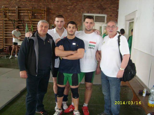 Balról jobbra: Végi Imre, Simon Bence, Sliczni Szabó Norbert, Simon Áron és  Felvégi István