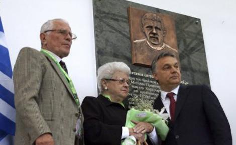 Puskás Ferenc emléktábláját özvegye és Orbán Viktor miniszterelnök avatta fel