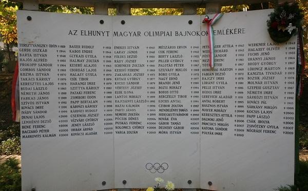 Az elhunyt olimpiai bajnokokra emlékeztek